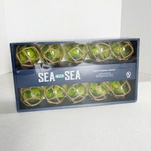 Other - Green Nautical Style String Light Set 10 Pieces